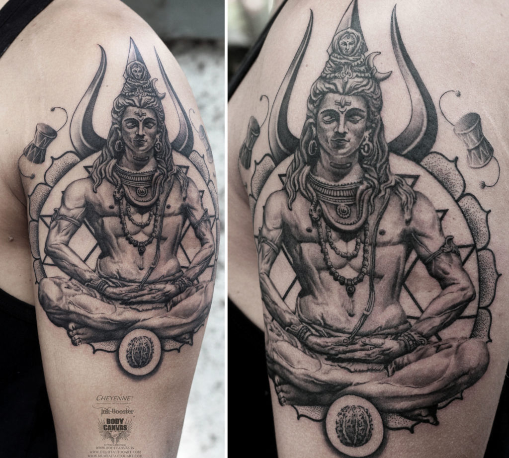 Best lord shiva tattoo deisgn by shyam