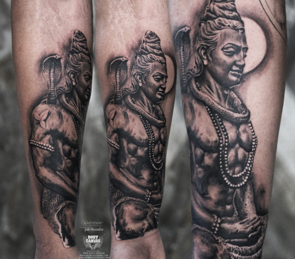 e53afe5e5 Best Shiva Tattoo / Mahadev Tattoo Designs & Ideas For Men - Best ...