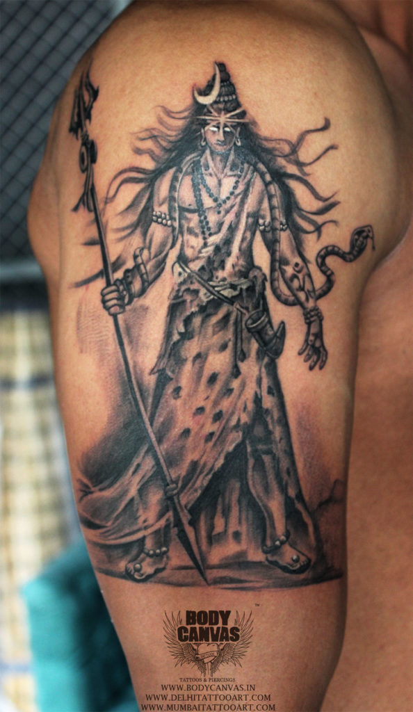 Best Shiva Tattoo / Mahadev Tattoo Designs & Ideas For Men ...